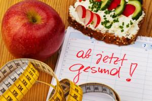 Guter Vorsatz zur Gesunden Ernährung